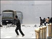 Riots broke out in several Tibetan areas in March