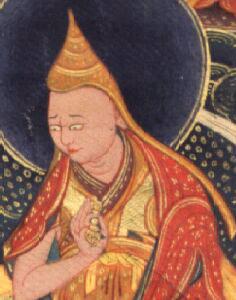 Detail from Padmasambhava - Guru Dragpo (meditational form)